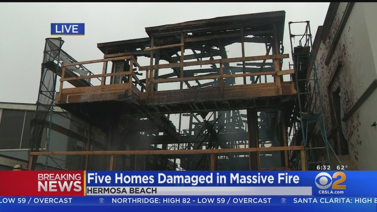Fire At 3-Story Home Under Construction In The Strand Spreads To 4  Neighboring Homes
