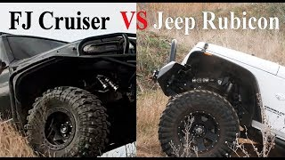 Toyota FJ Cruiser vs Jeep Wrangler, Rubicon, Interco TSL SX2 vs Maxxis Trepador, off road, 4x4