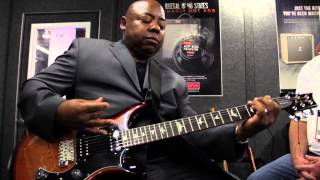 Paul Jackson Jr. on the Eminence Legend EM12 at NAMM 2015