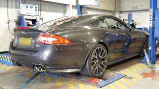 500bhp Jaguar XKR with light dyno run