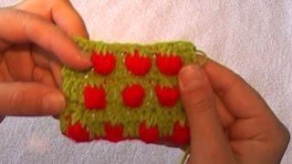 рисунок клубничка, крючком - strawberry pattern, crochet