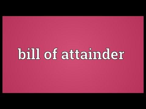 Header of attainder