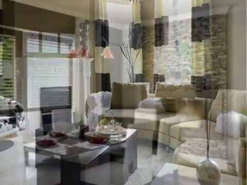 Contemporary living room curtains