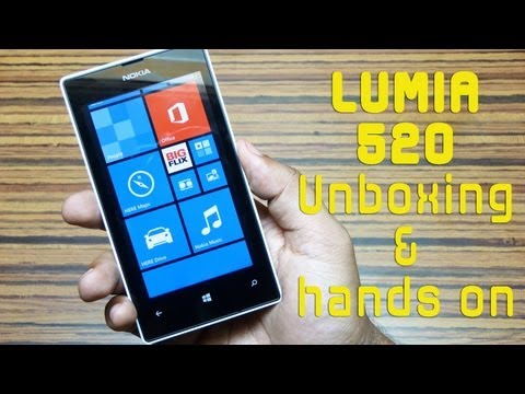 Nokia LUMIA 520 Unboxing & Hands on Review by Gadgets Portal