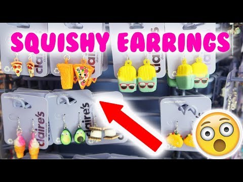 SQUISHY EARRINGS AT CLAIRE'S!!! OMG 😱😱😱