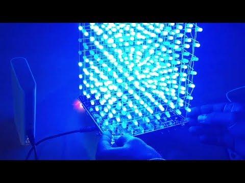 #1 Music Playing LED Cube 8x8x8   DIY Kit From Banggood