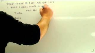 Problemas de ecuaciones con edades Matematicas 2 ESO Academia Usero Estepona