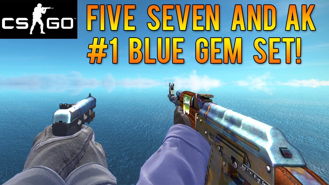 Cs Go Skins 1 Pattern Ak Amp Five Seven Blue Gems