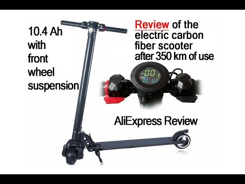 Electric Carbon Fiber Scooter Review After 350 Km Of Mileage