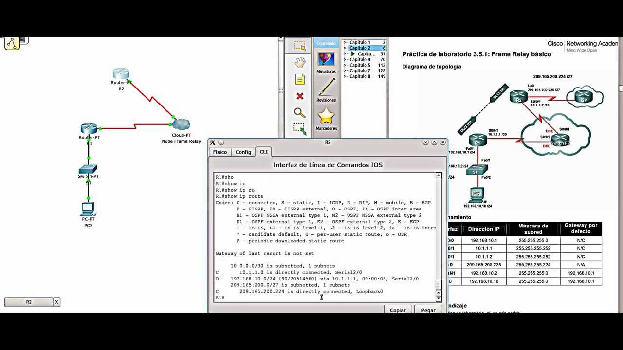 Configuracion de Frame Relay básico. Cisco 640/802. CCNA - YouTube