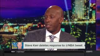 Steve Kerr deletes tweet criticizing James Harden   NBA Countdown