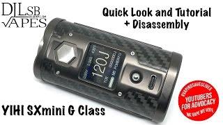 SX Mini G Class - SX550J - 200W + Tutorial + Disassembly - DJLsb Vapes