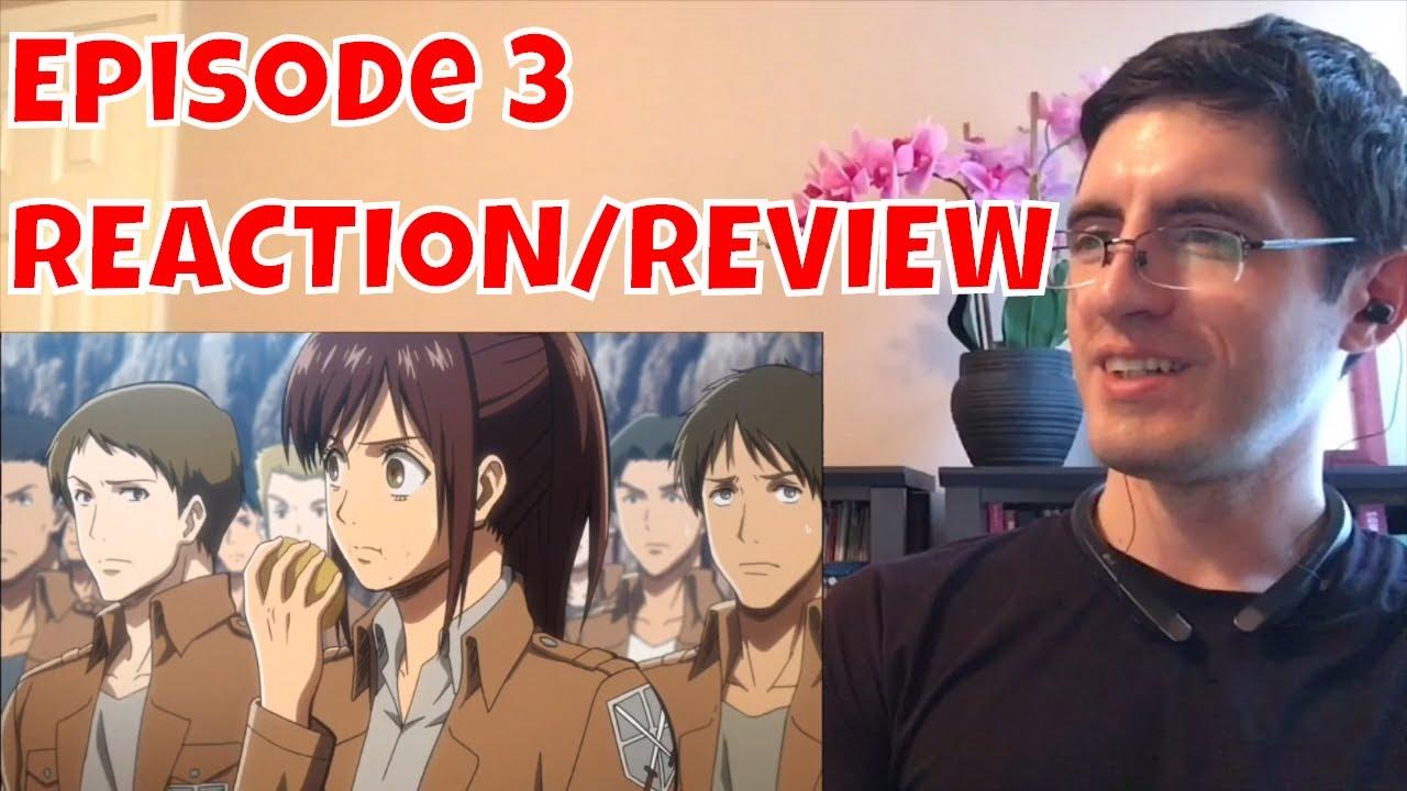 Attack on Titan Episode 3 REACTION/REVIEW - YouTube