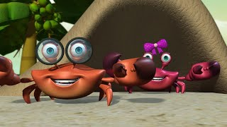 Sandy Crab and His Sister | Kids Short Moral Stories | Infobells