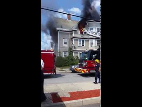 House on fire in Pawtucket RI today on ABC6 News