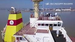 Заснемане с дрон на кораб БМФ порт Бургас м/к Рила