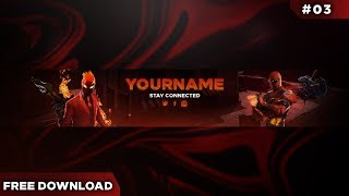 FREE Fortnite Banner Template #03 | Photoshop| [download]