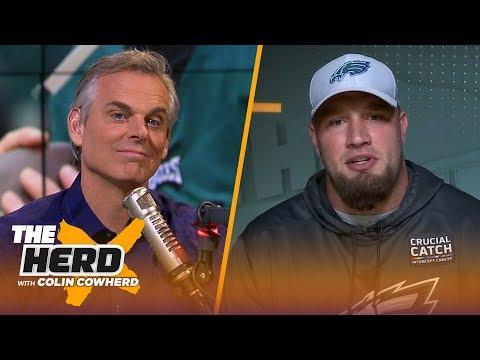 Lane Johnson talks Eagles' Super Bowl hangover, and Carson Wentz's health | NFL | THE HERD