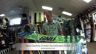 Gnu Carbon Credit Snowboard 2014 Preview