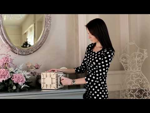 Ugears Safe - Information Video-1 | Proposal Puzzle Box, Gifts for Women | STEM Learning Puzzle Lock