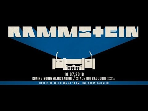 Rammstein, Deutschland (First Time Ever In Belgium) Live@, Brussels, 2019, Full HD,1080