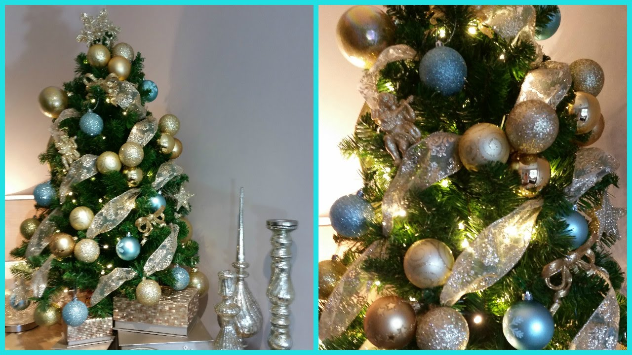 HOW TO DECORATE A SMALL CHRISTMAS TREE | DECK THE HALLS Pt 4 - YouTube