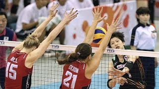 FIVB 2015 World Cup - USA vs Japan Women's Volleyball Highlights