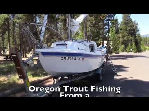Oregon Trout Fishing from a Tiny Sailboat