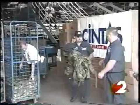 3,000 lbs  of Army Gear Washed for Free   Cintas