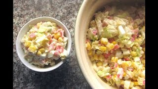 2 версии салата с КРАБОВЫМИ ПАЛОЧКАМИ