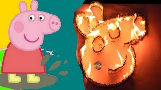 Peppa Pig on Fire - A Disastrous Experiment - Peppa Pig