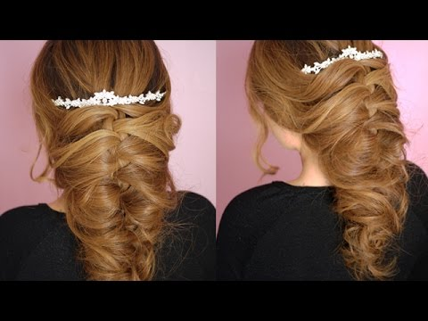 Romantic Wedding Hairstyle for Long Hair - YouTube
