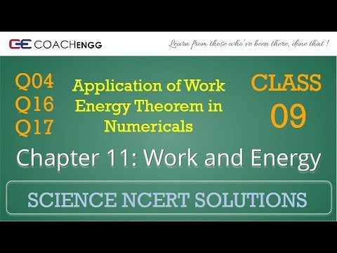 Work and Energy Question 04 16 17 Chapter 11 Class 09 NCERT Solutions Exercise