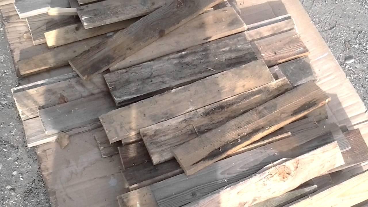 Spiritodilegno tutorial come recuperare bancali legno video 8 youtube - Rivestire parete con legno ...