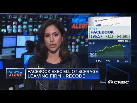 Facebook exec Elliot Schrage leaving firm, according to reports