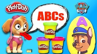 Best Learning Letters Alphabet Video for Kids - PAW PATROL ABCs Play Doh Surprise Toy Eggs