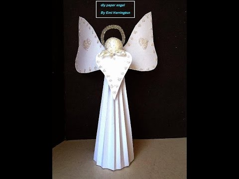 DIY- CARDSTOCK PAPER ANGEL, Easy Christmas Angel, Paper arts, Paper project
