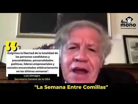 Luis Almagro : Exigimos la liberación de los encarcelados arbitrariamente en las ultimas semanas