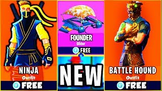 *NEW* HIDDEN NINJA SKIN on FORTNITE BATTLE ROYALE?! *NEW* EXCLUSIVE SKINS for FREE in FORTNITE!