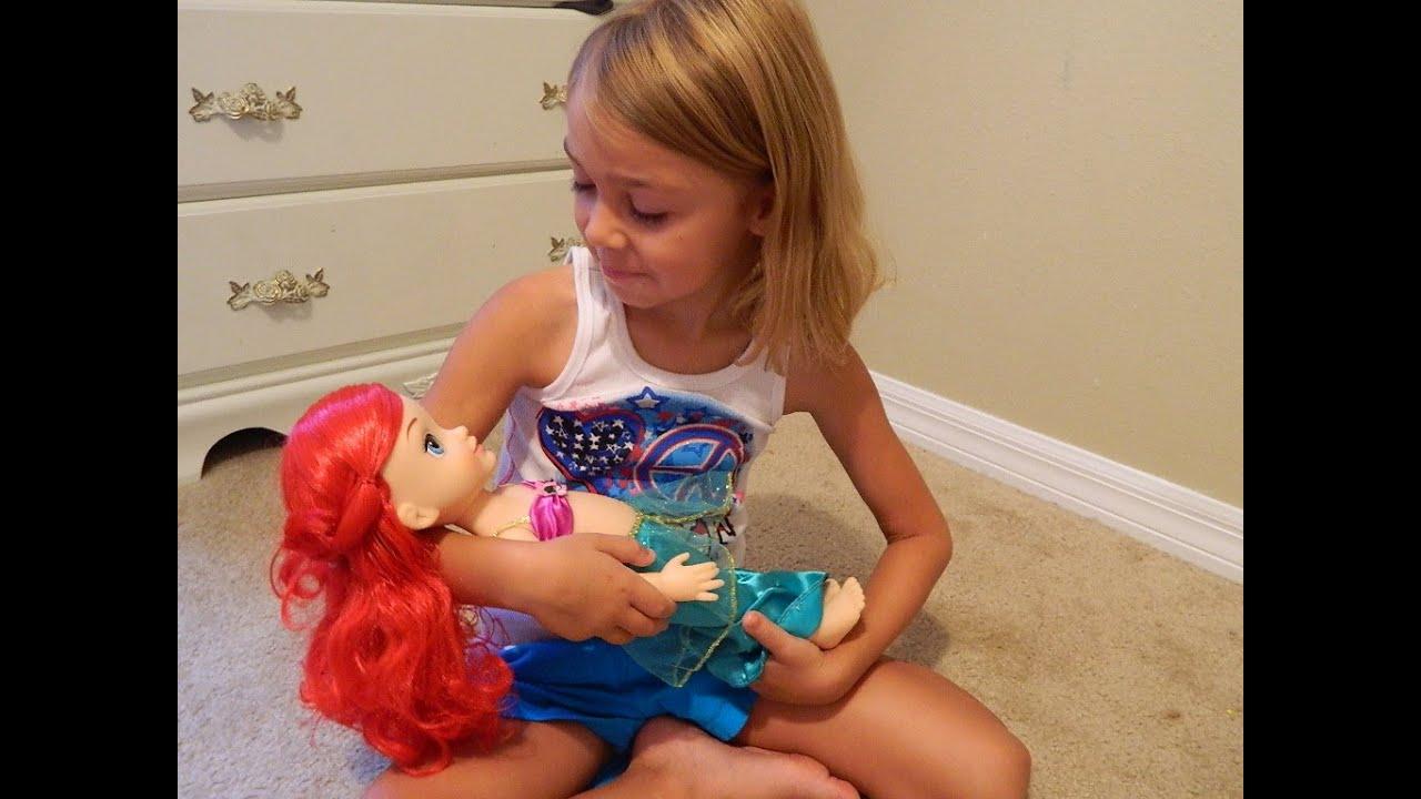 disney princess ariel toddler doll toy youtube. Black Bedroom Furniture Sets. Home Design Ideas