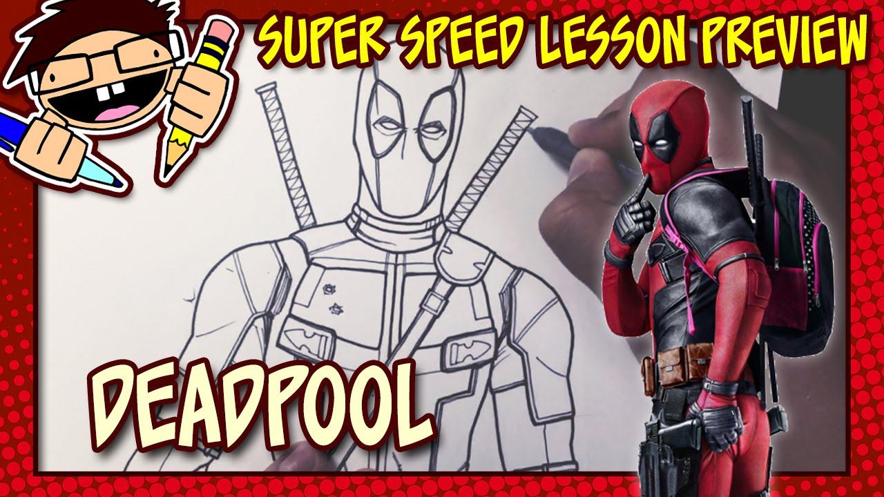 Lesson Preview: How To Draw DEADPOOL (Deadpool [2016] Movie)   YouTube