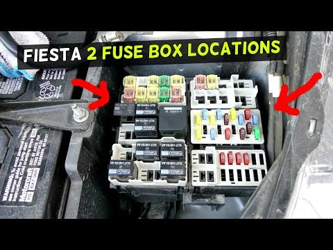 FORD FIESTA FUSE LOCATION FUSE BOX LOCATION MK7 ST - YouTube
