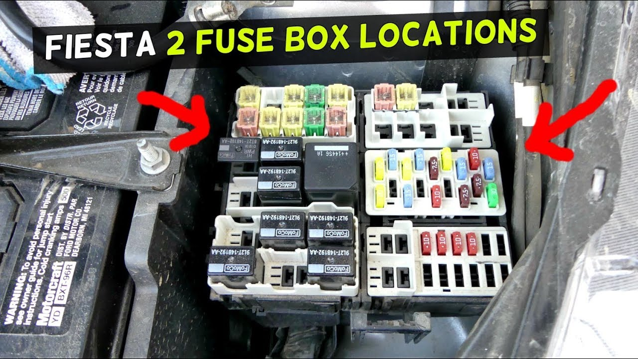 Ford fiesta fuse location fuse box location mk st youtube