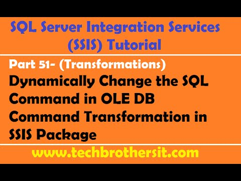 SSIS Tutorial Part 51-Dynamically Change the SQL Command in OLE DB Command Transformation