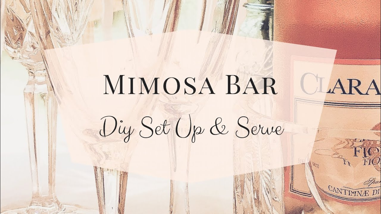 image relating to Free Printable Mimosa Bar Sign named Do it yourself At-Residence Mimosa Bar Mimosa Bar Set up + Totally free Printable