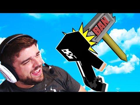 HACKER GETS BANNED MID GAME! | Microbattles w/ PrestonPlayz (Minecraft)
