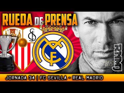 Rueda de prensa de Zidane  previa al Sevilla - Real Madrid