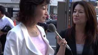 20130720 三原じゅん子さんインタビューを受ける 参院選.