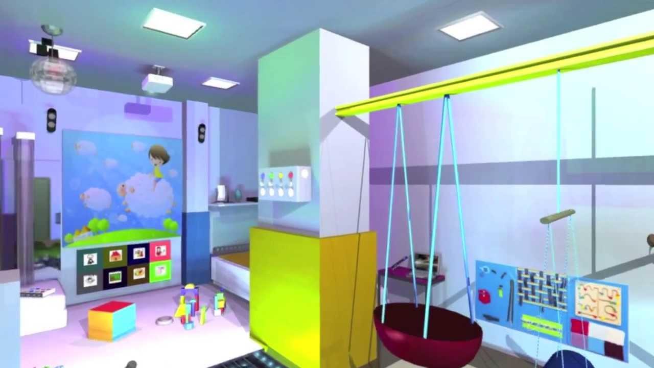 Ejemplo de sala de estimulaci n sensorial eneso youtube for Paredes sensoriales