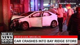 Car crashes into Bay Ridge building